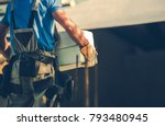 construction site contractor... | Shutterstock . vector #793480945