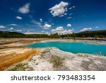 hot thermal spring black opal... | Shutterstock . vector #793483354