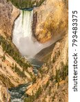 lower falls waterfall in the... | Shutterstock . vector #793483375
