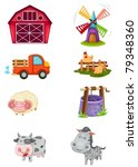 Illustration Of Isolated Farm...