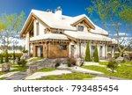 3d rendering of modern cozy... | Shutterstock . vector #793485454