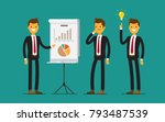 business man characters in...   Shutterstock .eps vector #793487539