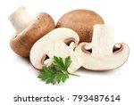 fresh champignon mushrooms... | Shutterstock . vector #793487614