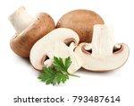 fresh champignon mushrooms...   Shutterstock . vector #793487614