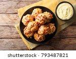 freshly baked sausage balls... | Shutterstock . vector #793487821