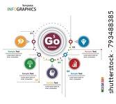 infographics business template...   Shutterstock .eps vector #793488385