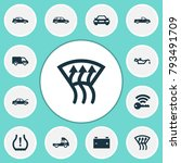 auto icons set with indicator ... | Shutterstock .eps vector #793491709