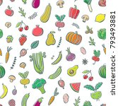 seamless pattern with... | Shutterstock .eps vector #793493881