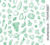 seamless pattern with... | Shutterstock .eps vector #793493887