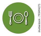 line icon of tableware  fork ... | Shutterstock .eps vector #793494271