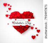 red heart   symbol of love.... | Shutterstock .eps vector #793497871