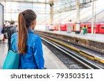 train station morning commute... | Shutterstock . vector #793503511