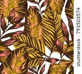 watercolor seamless pattern... | Shutterstock .eps vector #793503574