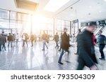 trade fair visitors walking in... | Shutterstock . vector #793504309