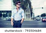 one handsome elegant young man... | Shutterstock . vector #793504684