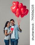 beautiful romantic couple...   Shutterstock . vector #793506235