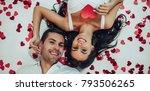 top view of beautiful romantic... | Shutterstock . vector #793506265