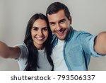 beautiful romantic couple... | Shutterstock . vector #793506337