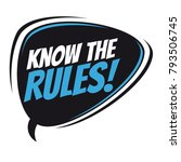know the rules retro speech... | Shutterstock .eps vector #793506745