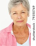 portrait of senior woman | Shutterstock . vector #79350769