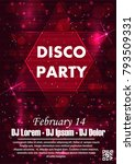 party poster vector background... | Shutterstock .eps vector #793509331