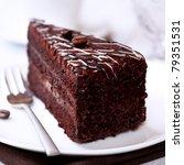 Dark Chocolate Cake With Coffe...