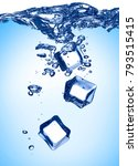 close up of ice cube splash in...   Shutterstock . vector #793515415