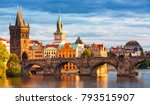 Scenic View On Vltava River And ...