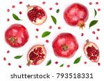 Pomegranate With Leaves...