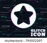 glitch effect. star sign icon....