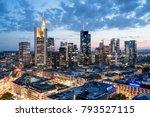 frankfurt am main skyline | Shutterstock . vector #793527115