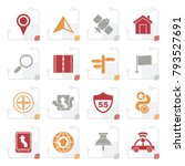 stylized gps  navigation and... | Shutterstock .eps vector #793527691