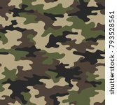 camouflage seamless pattern.... | Shutterstock .eps vector #793528561