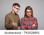 studio shot of you european... | Shutterstock . vector #793528891