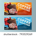 coffee to go free cofe voucher... | Shutterstock .eps vector #793529269