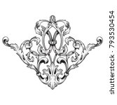 classical baroque vector of... | Shutterstock .eps vector #793530454