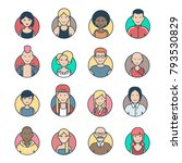flat linear people characters... | Shutterstock .eps vector #793530829