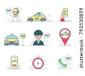 taxi mobile service search... | Shutterstock .eps vector #793530859