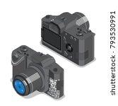flat 3d isometric dslr single... | Shutterstock .eps vector #793530991