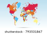 color world map vector   Shutterstock .eps vector #793531867