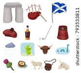 country scotland cartoon icons... | Shutterstock .eps vector #793533811