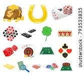 casino and equipment cartoon...