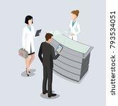 flat isometric hospital... | Shutterstock .eps vector #793534051