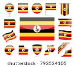 uganda flag set   vector... | Shutterstock .eps vector #793534105