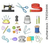 sewing  atelier cartoon icons... | Shutterstock .eps vector #793534444