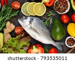 food background. fresh  raw...   Shutterstock . vector #793535011
