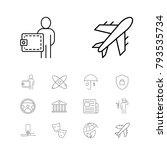 industrial icons set with bank  ...