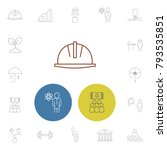 industry icons set with ecology ...