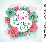 love story template for banner... | Shutterstock .eps vector #793538815