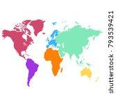 world map. europe asia america... | Shutterstock .eps vector #793539421